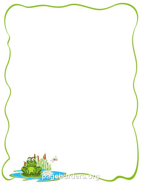 Frogs clipart borders. Frog border clip art