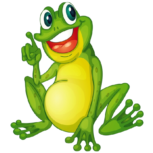 Funny frogs cartoon picture. Rainforest clipart frog