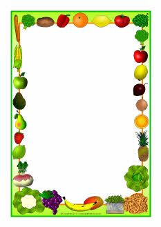 And vegetables themed a. Fruit clipart boarder