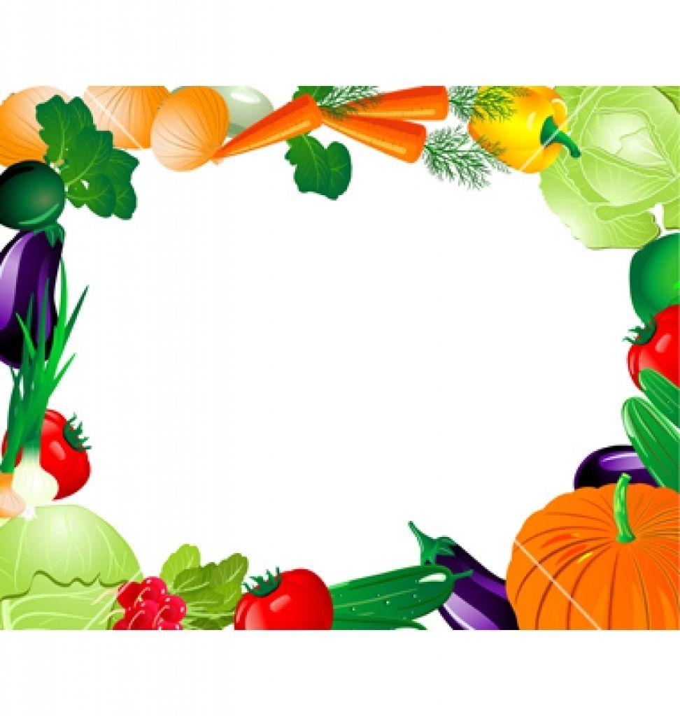 Vegetable clip art border. Clipart fruit frame