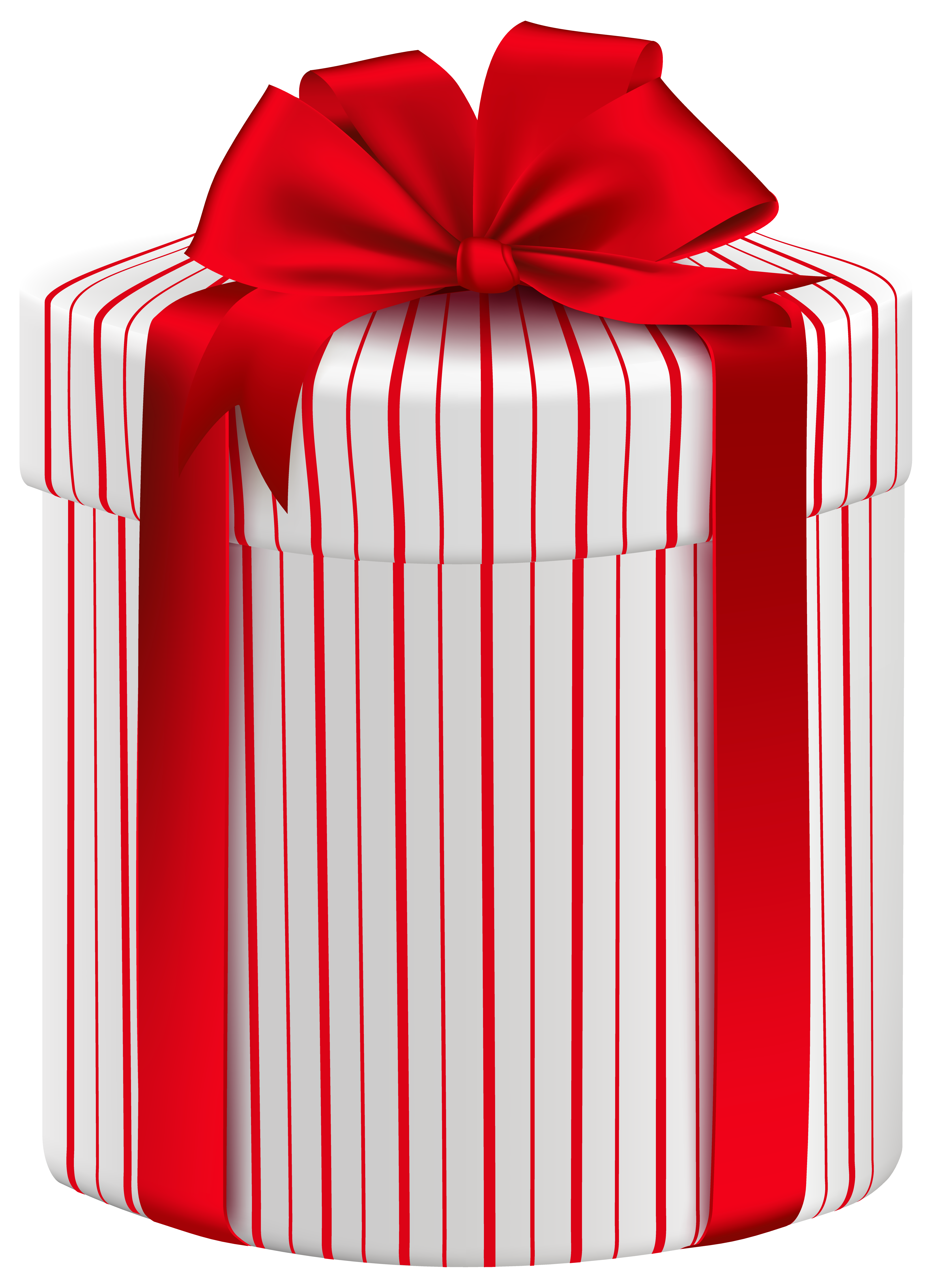 Clipart present large. Gift box with red