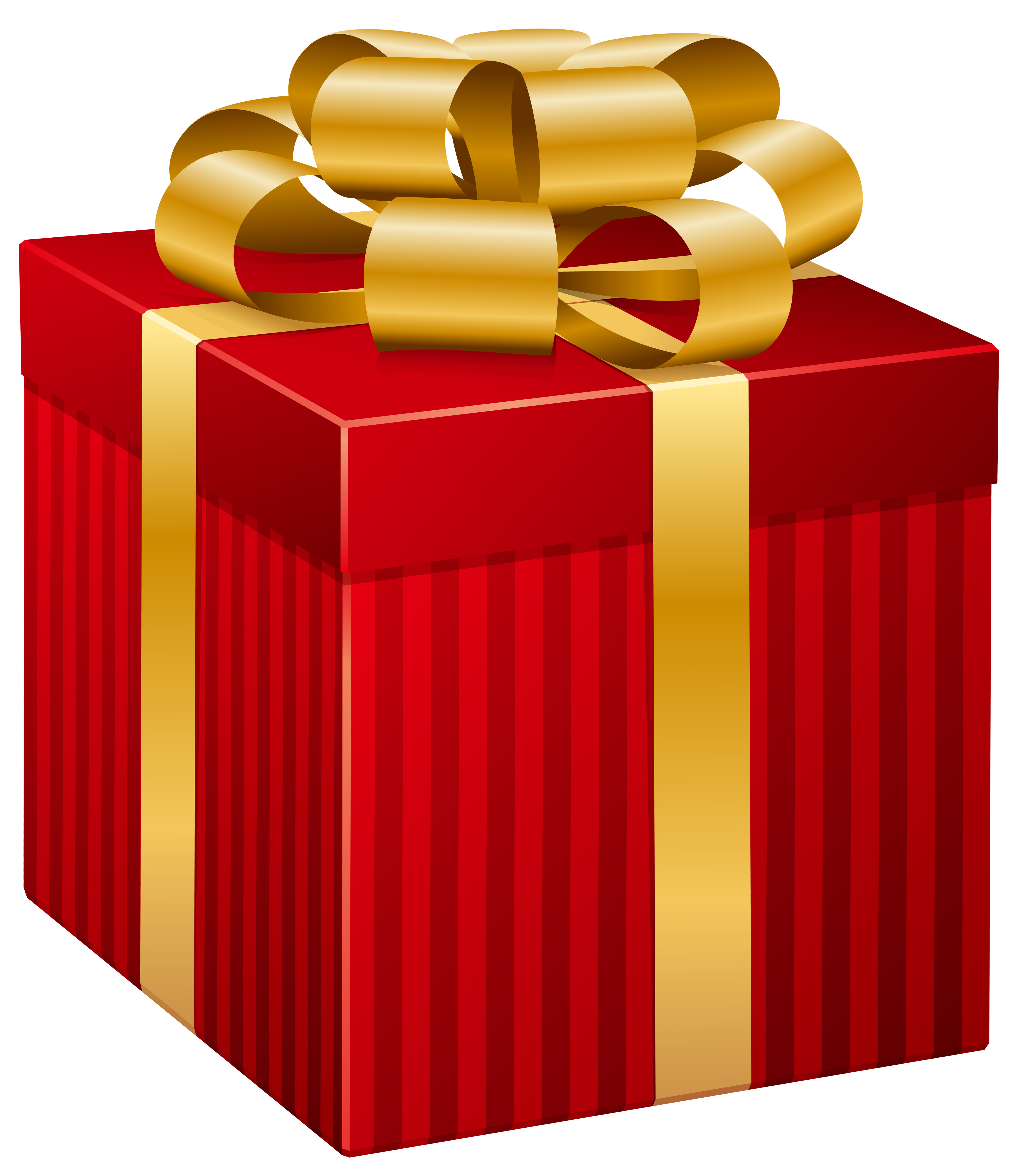 Red striped gift png. Clipart box quality