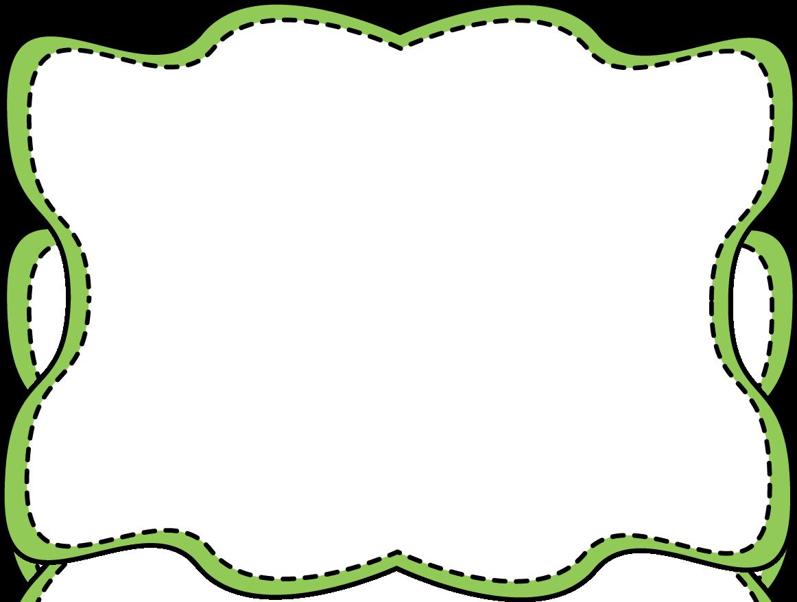 Wavy border . Frame clipart green