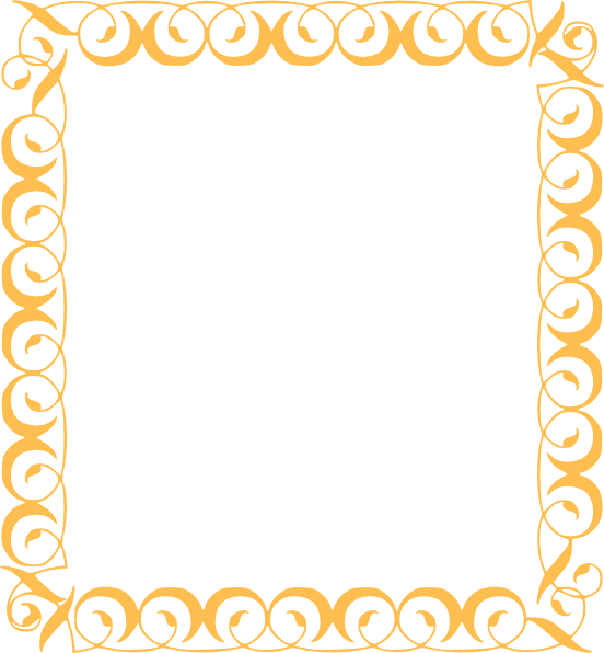 Gold clip art at. Golden border png