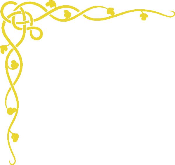 Gold border png. Vine clip art at