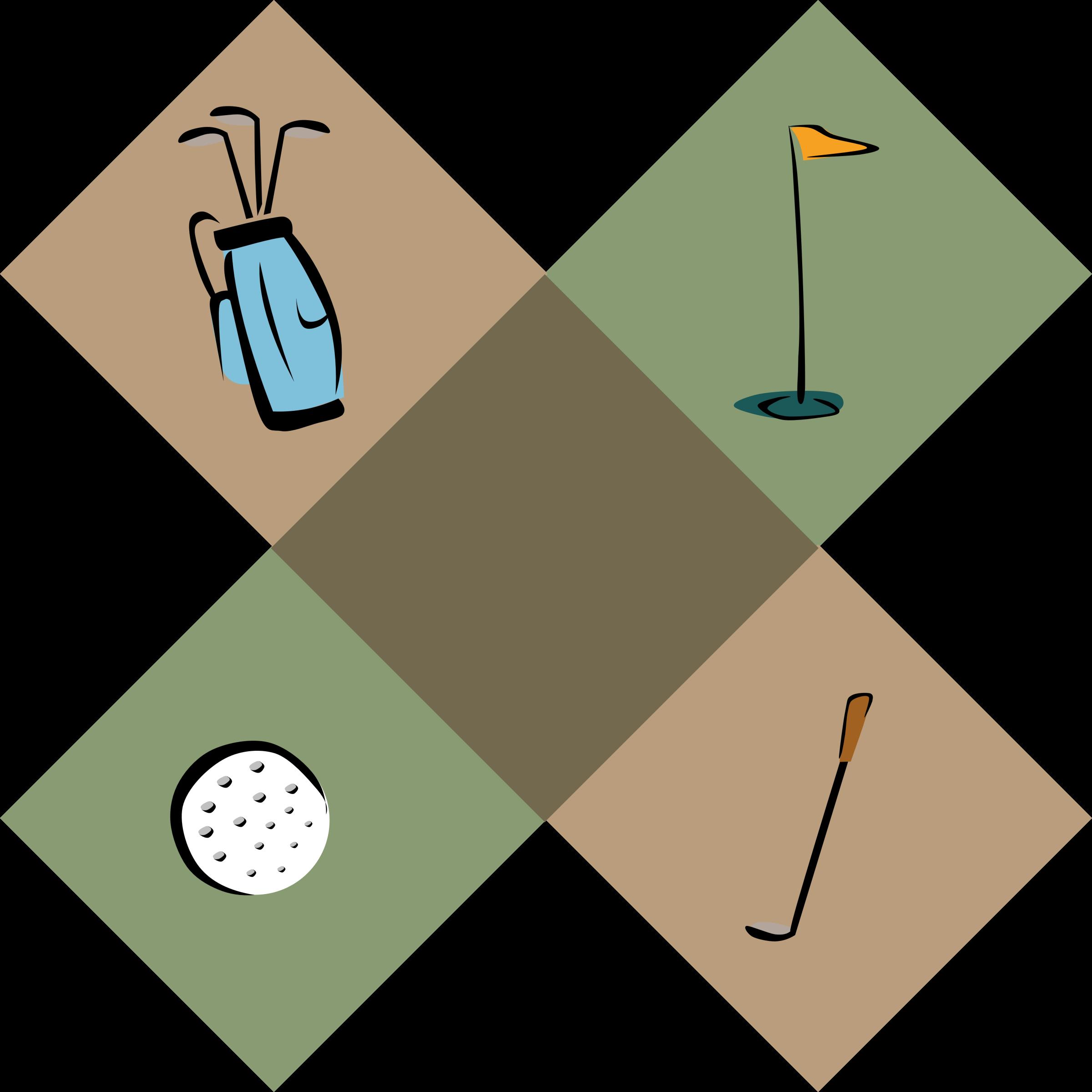 Golf decoration big image. Golfing clipart men's