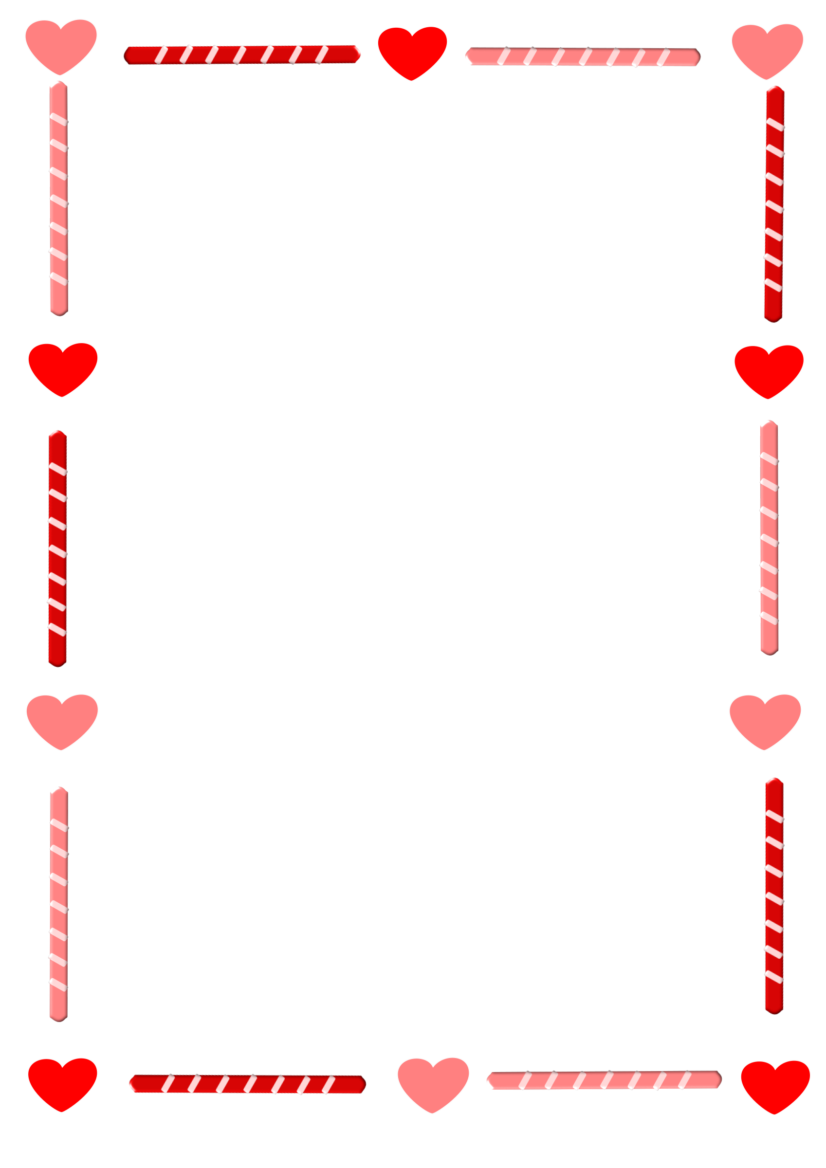 collection of love. Heart border png