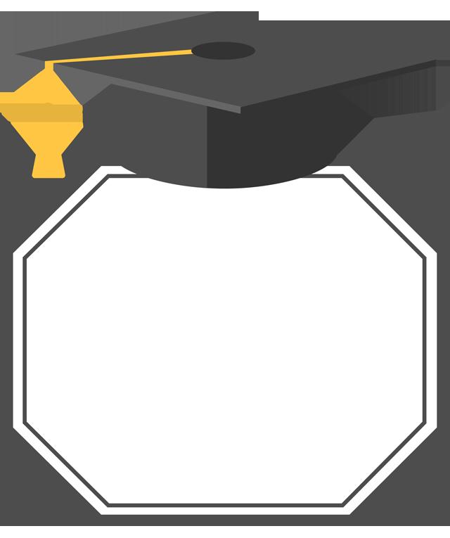 Hat ceremony bachelor s. Clipart border graduation