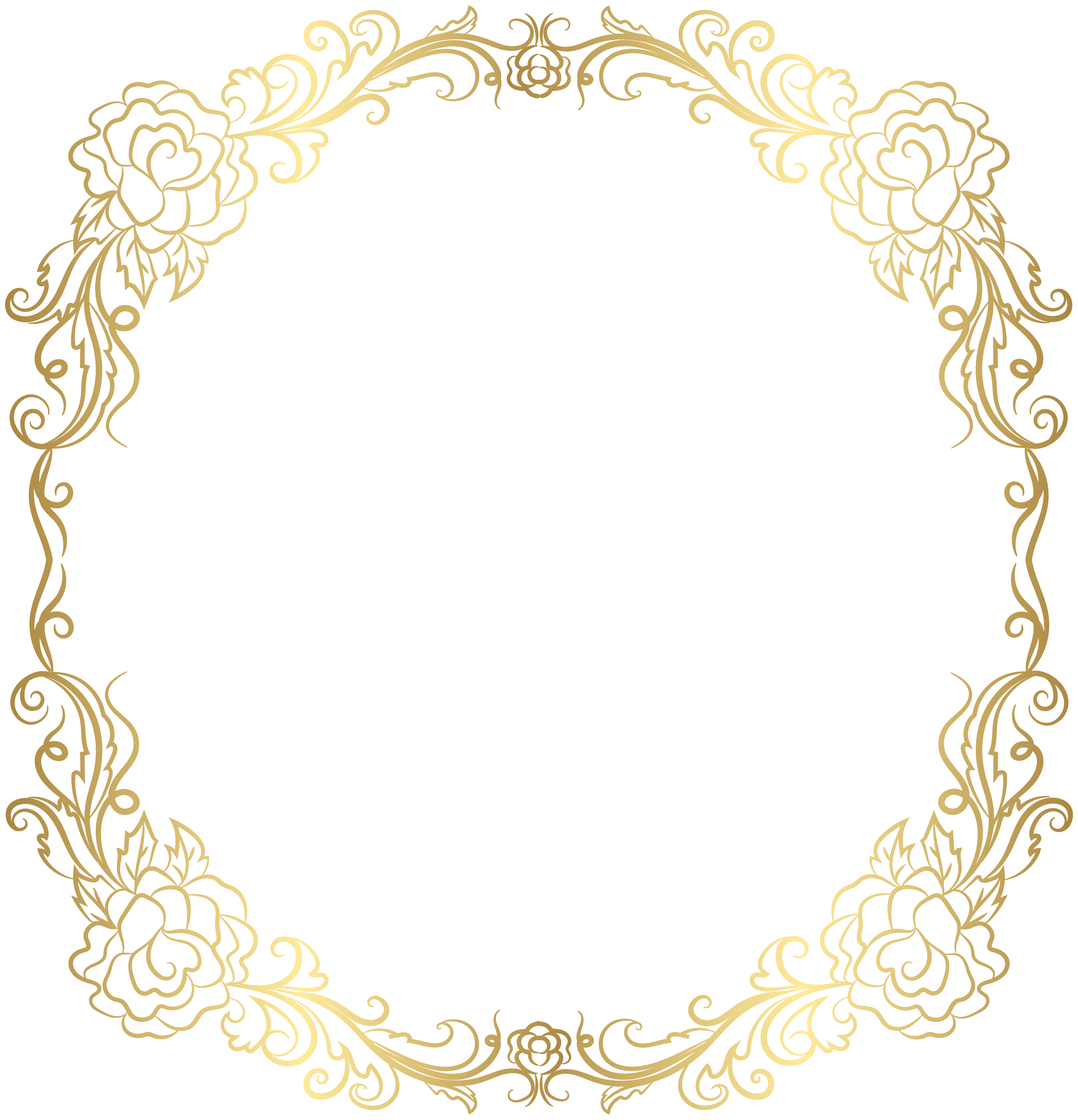 Essay clipart paperwork. Deco golden border frame