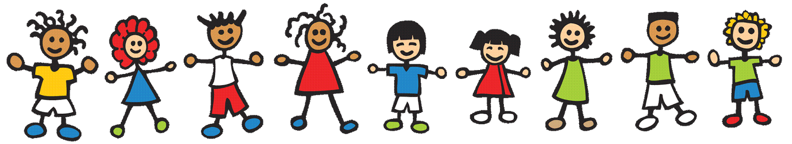 Hand clipart border.  collection of kids