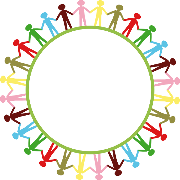 People holding hands desktop. Friendship clipart circle time