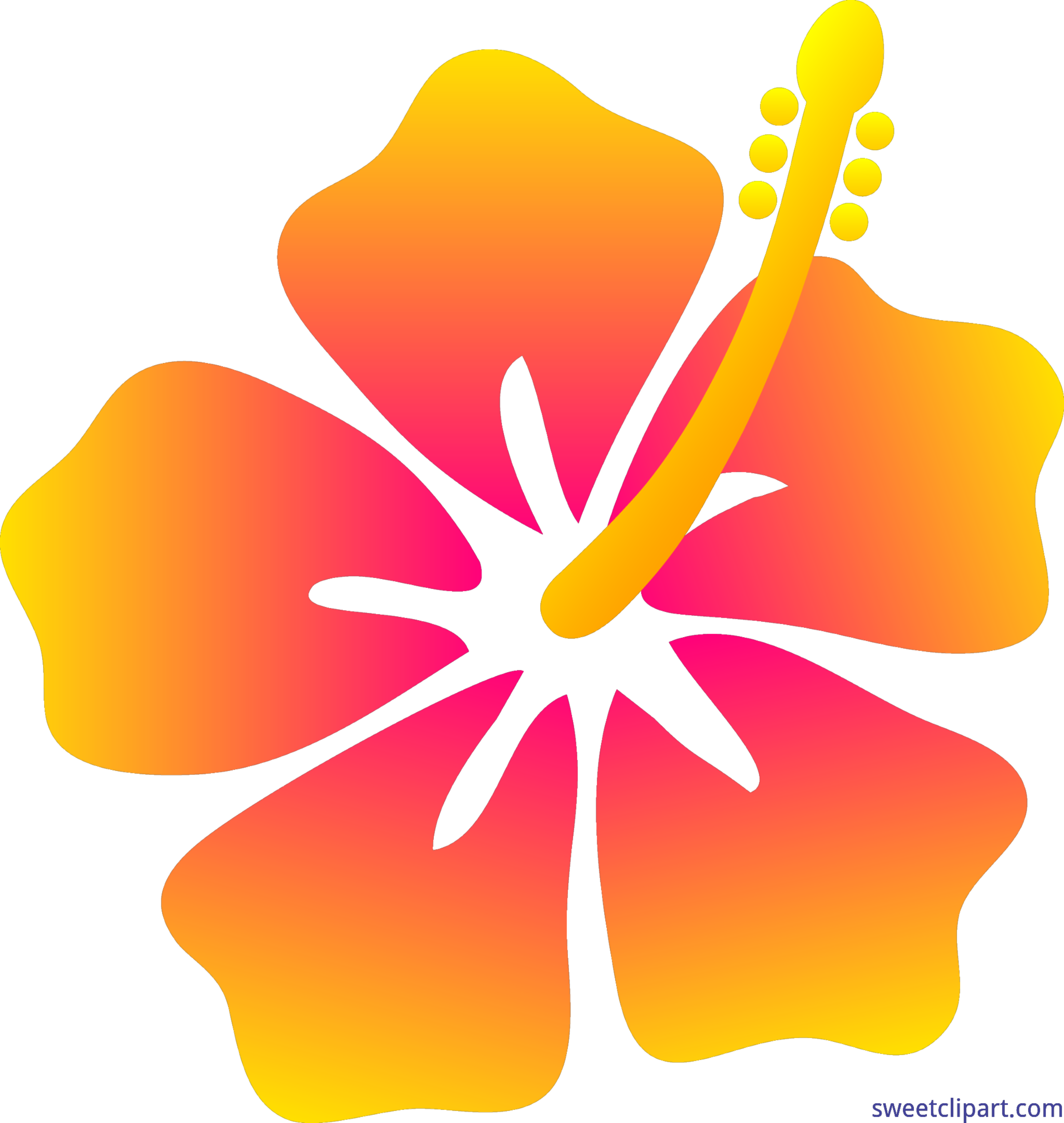 Hibiscus clipart real. Flower clip art sweet