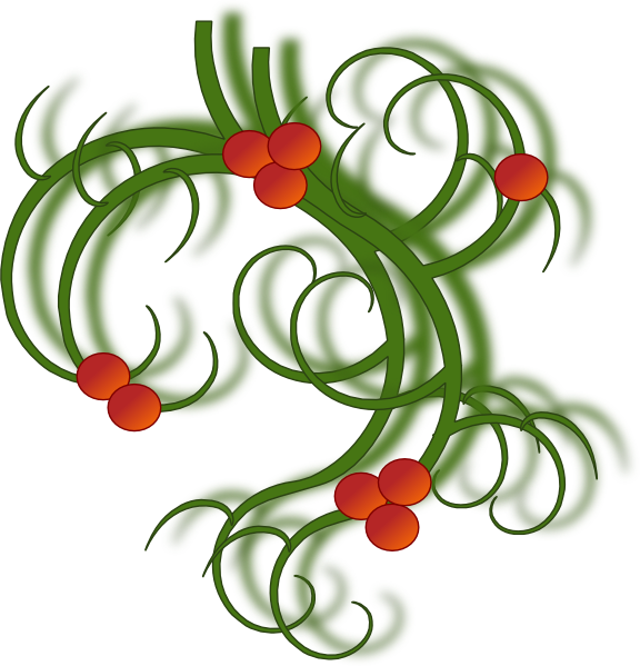 Clipart christmas design. Swirls clip art at