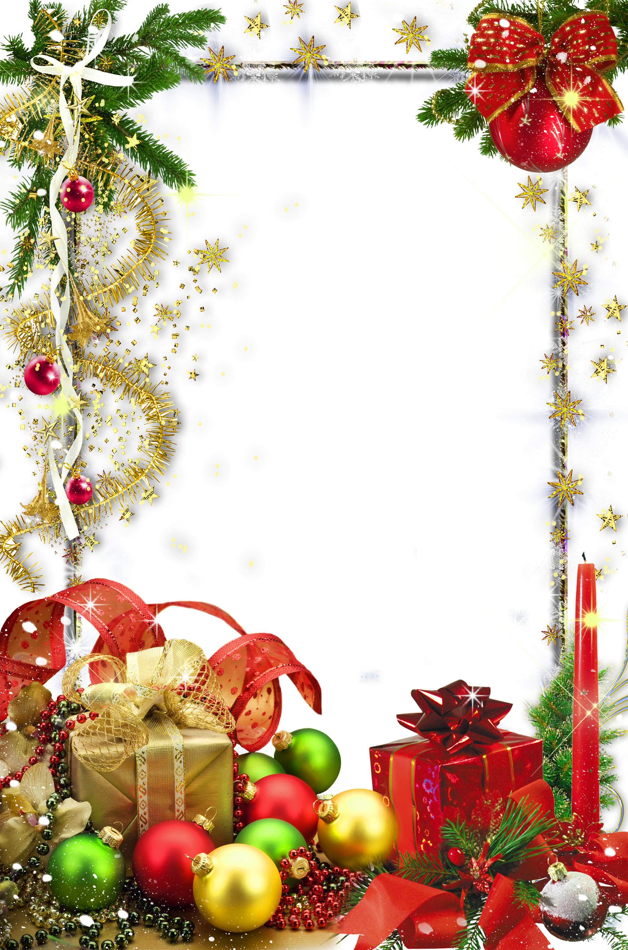 Transparent christmas photo png. Frame clipart holiday