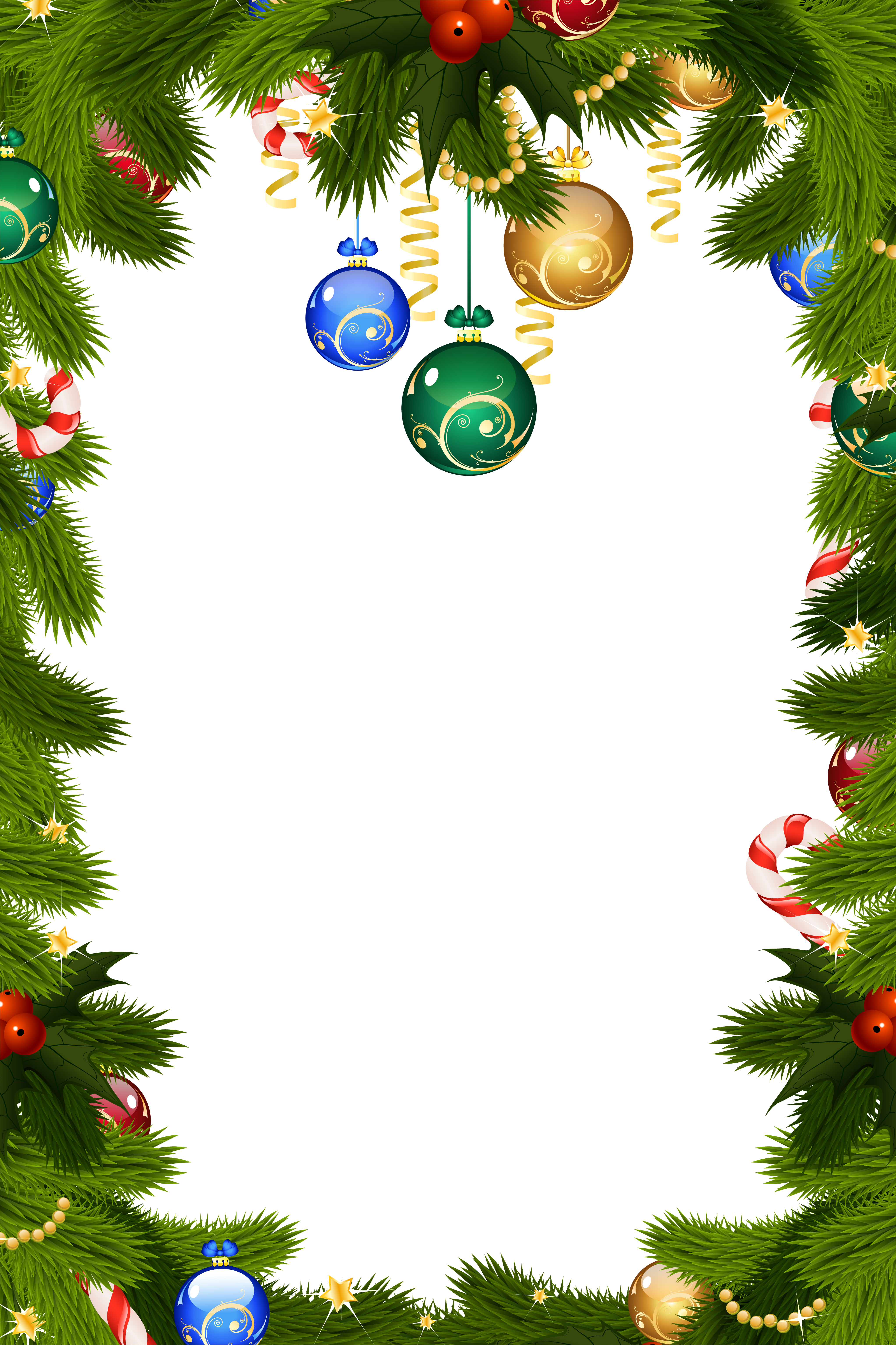 Holidays clipart boarder. Transparent christmas png frame