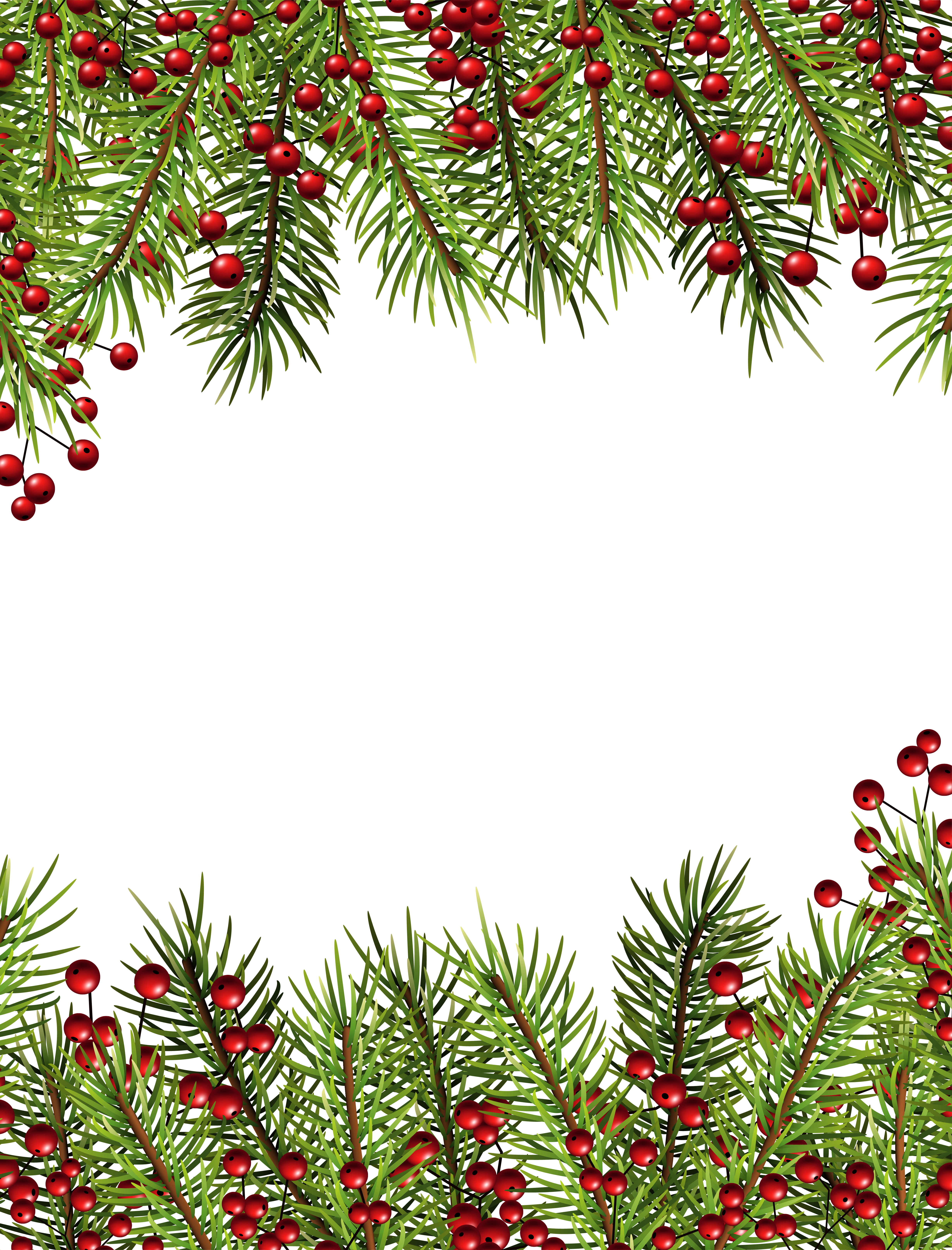 Holiday frame png. Christmas holly transparent border