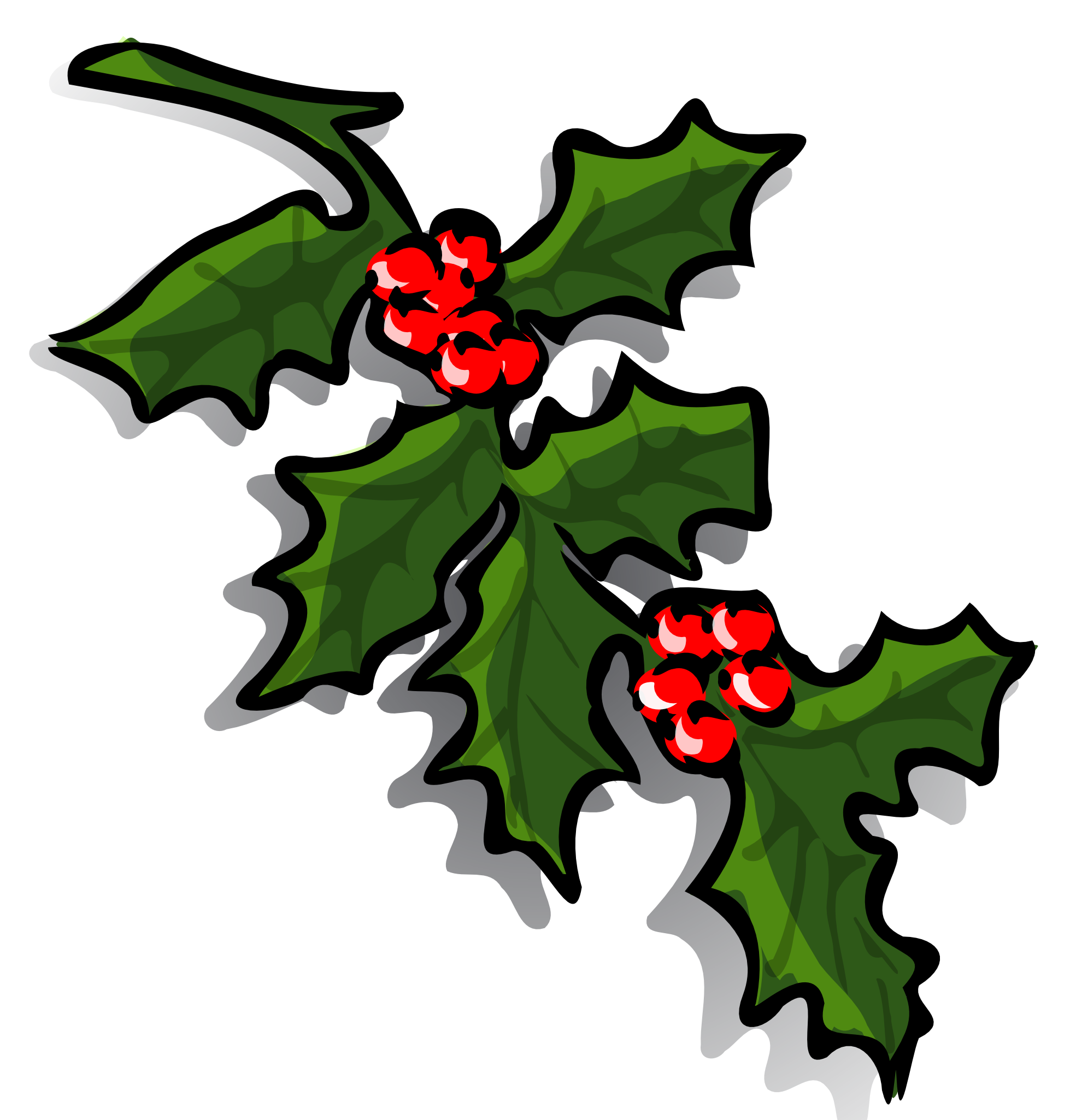 Ivy pencil and in. Clipart christmas holly