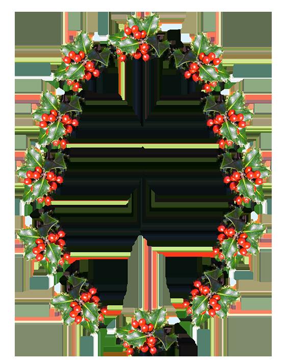 Holly border png. Christmas clip art borders