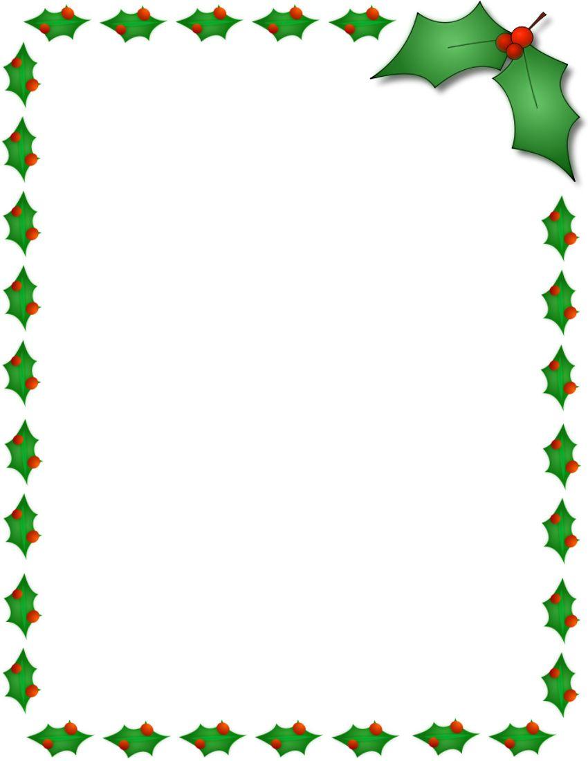 Holly clipart border. Pin on christmas