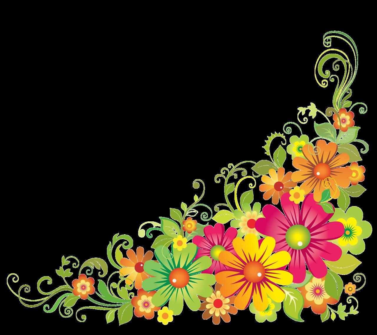 Flores y letras para. Clipart border horizontal