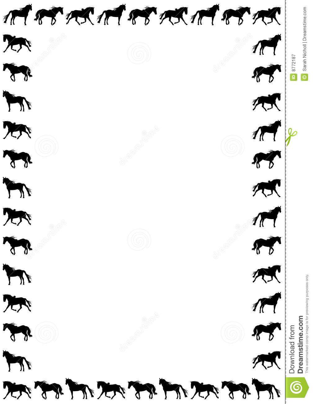 Horses clipart boarder. Horse border clip art