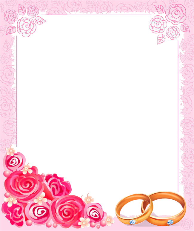 Clipart borders marriage. Wedding invitation picture frame