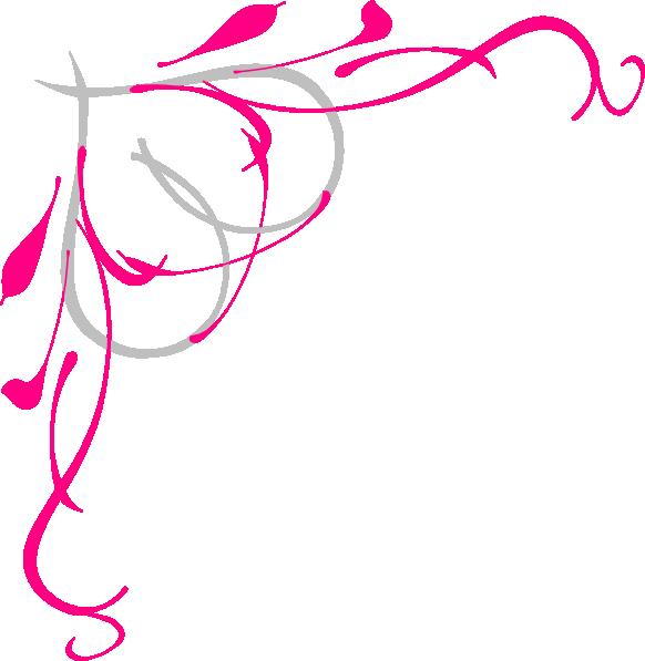 Roses border clip art. Purple clipart corner