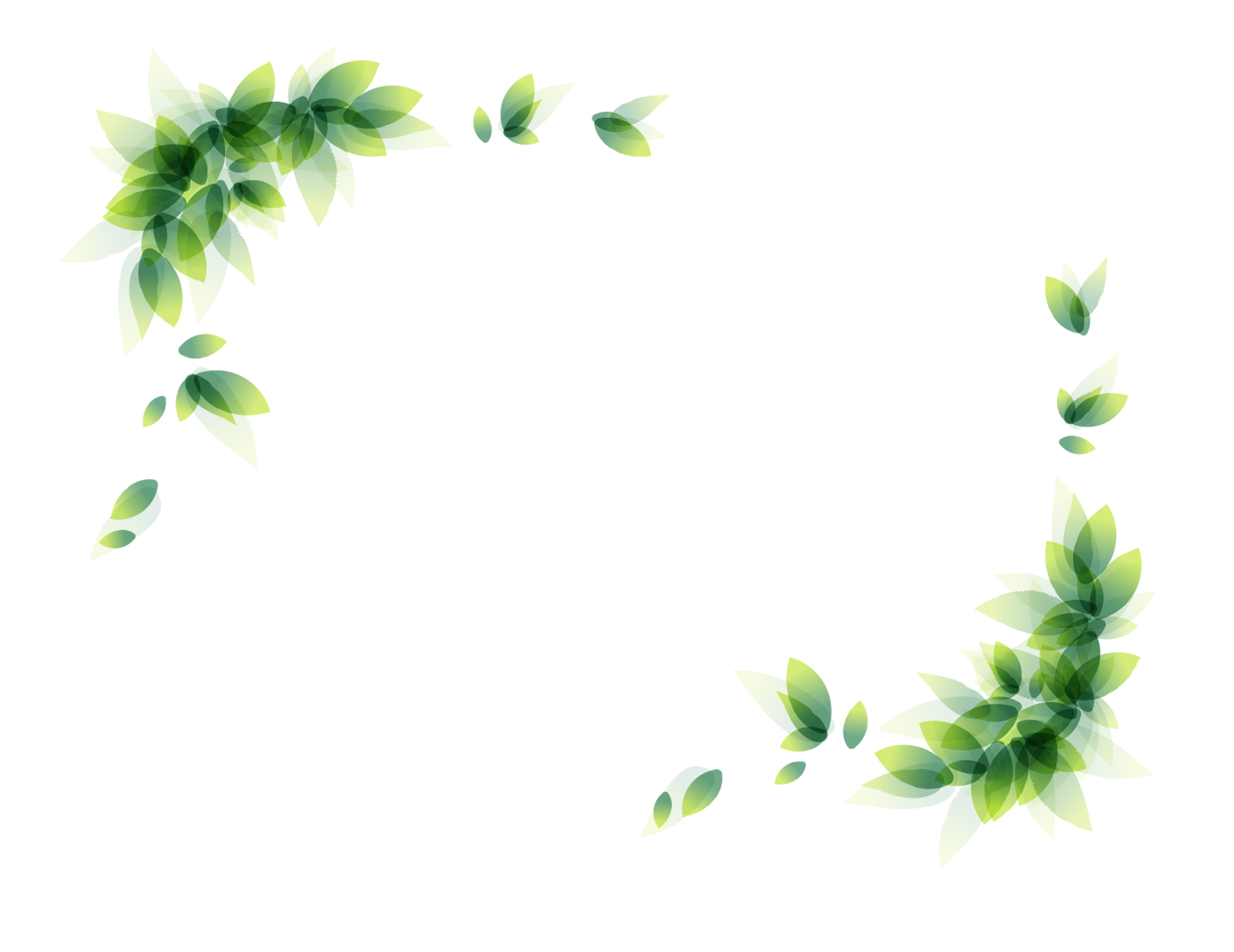 Leaves border png. Clip art green transprent