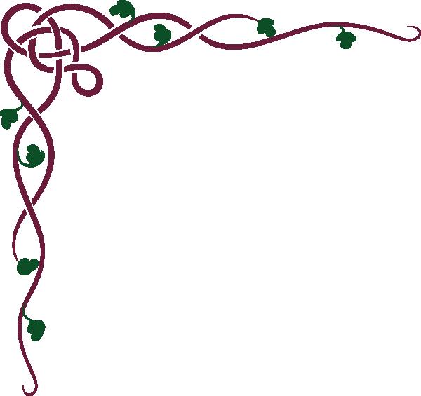 Color clipart maroon. Celtic ivy clip art
