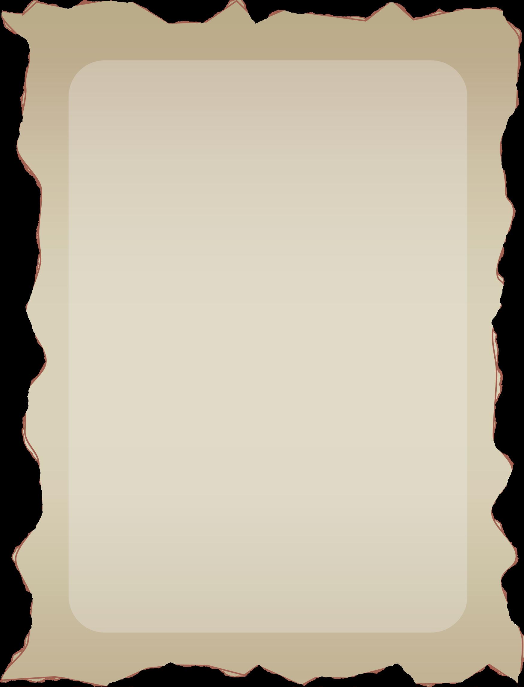 Parchment big image png. Clipart border landscape