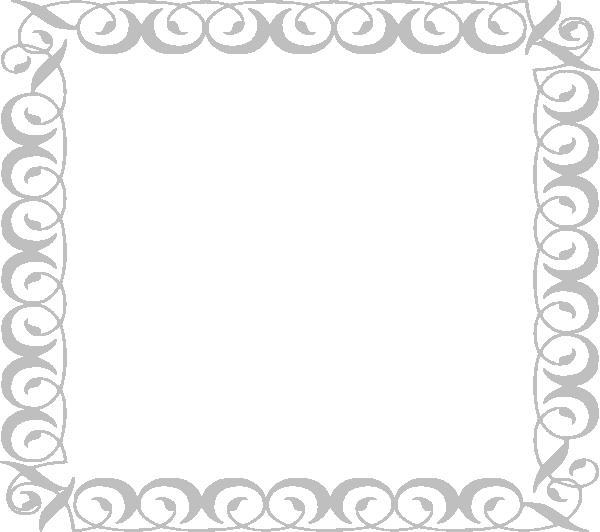 Light gray clip art. Filigree border png