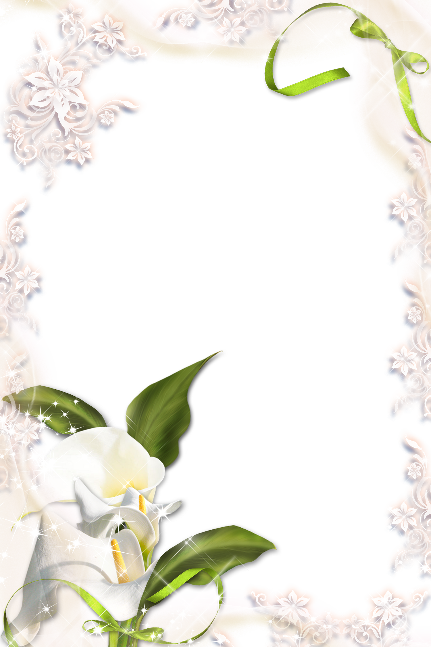 lily clipart border valley