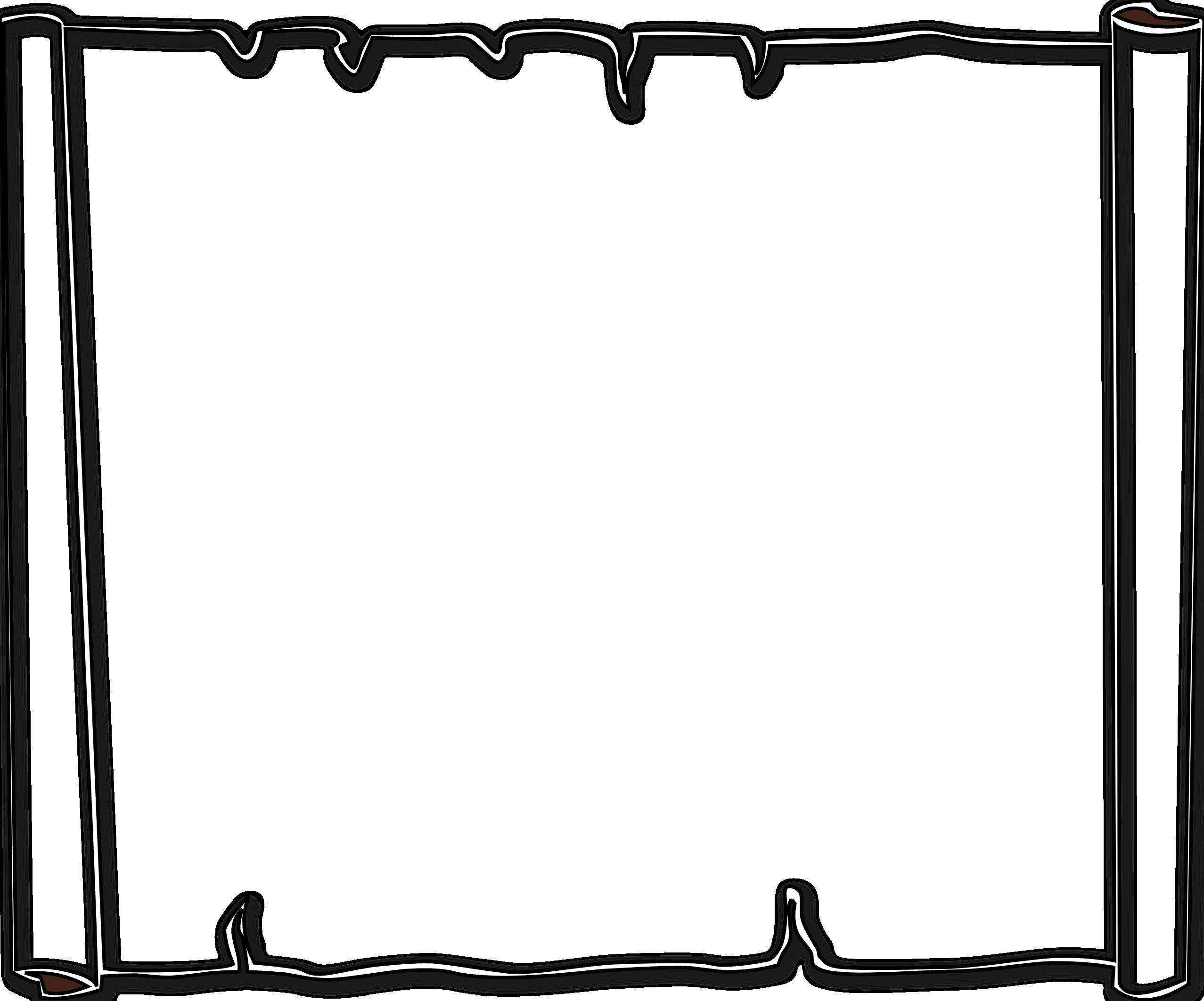 Clipart borders black and white. Simple line border panda