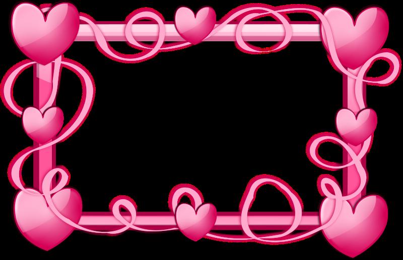 Hearts clipart borders. Pink border free stock