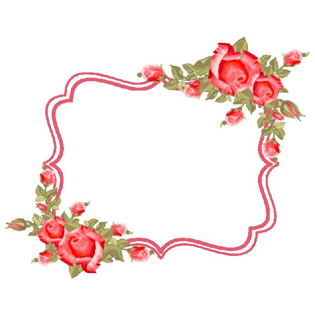 Frame flower roses border. Lace clipart rose