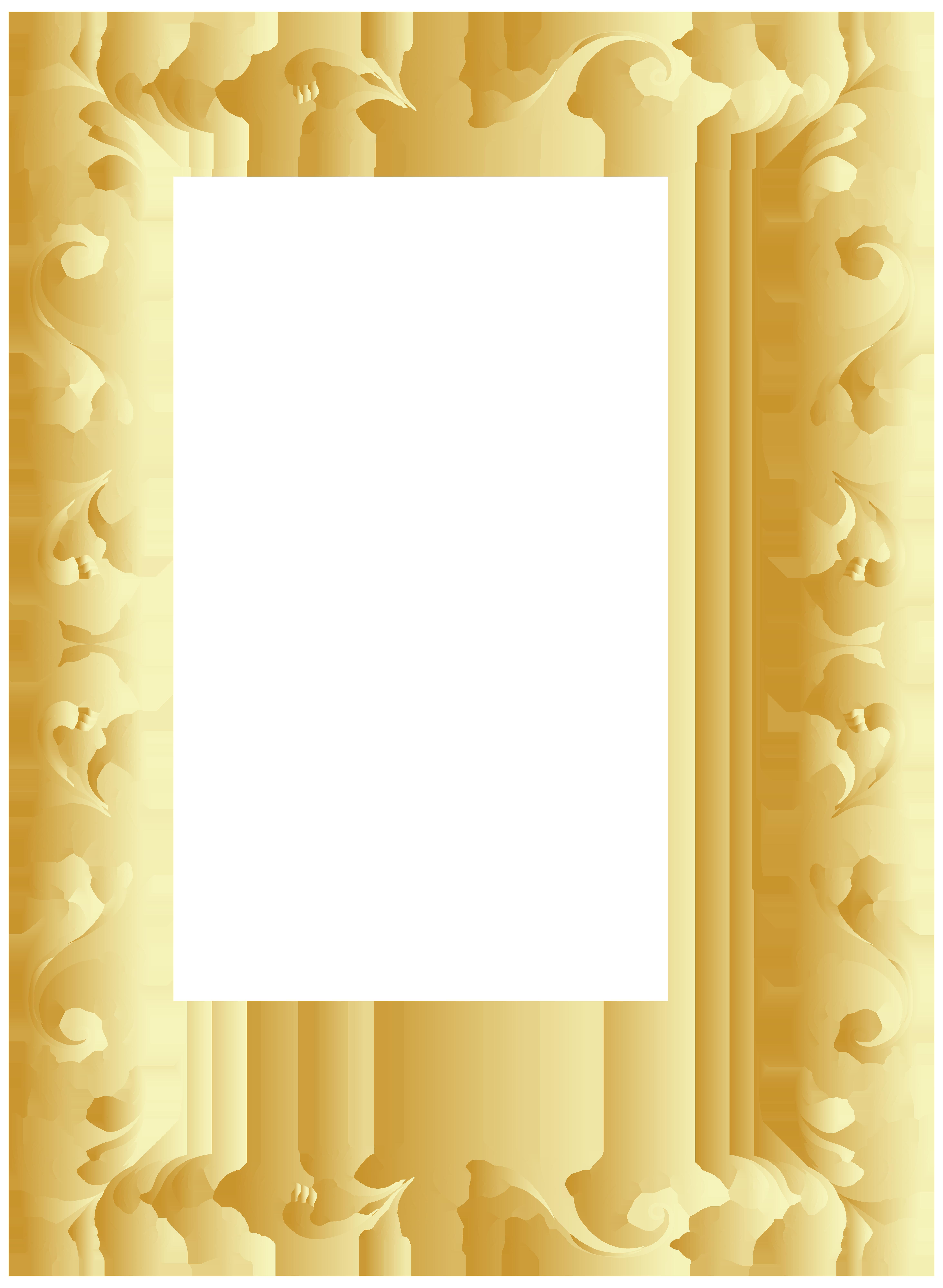 Frame clip art image. Vintage border png