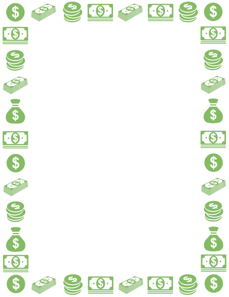 Money clipart borders. A page border free