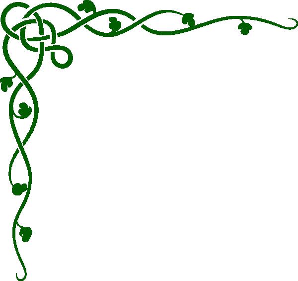 Garland clipart fern. Music notes corner border