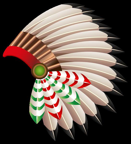Warrior clipart headdress. Native american chief hat