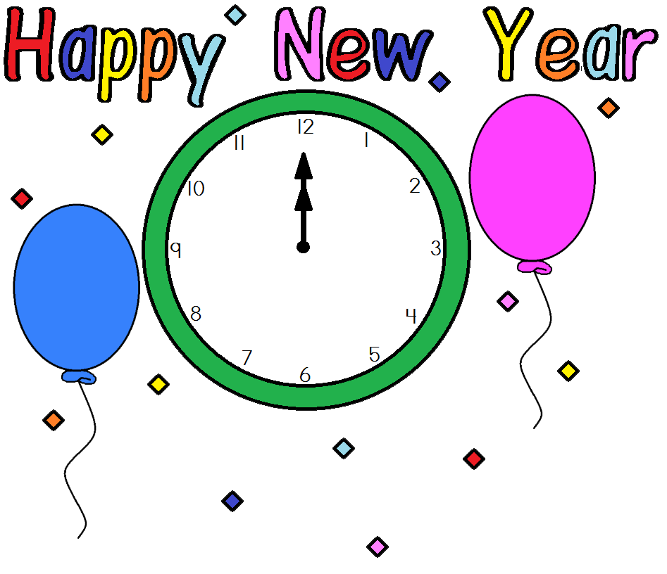 Clock clipart new year's eve. Free printable star year