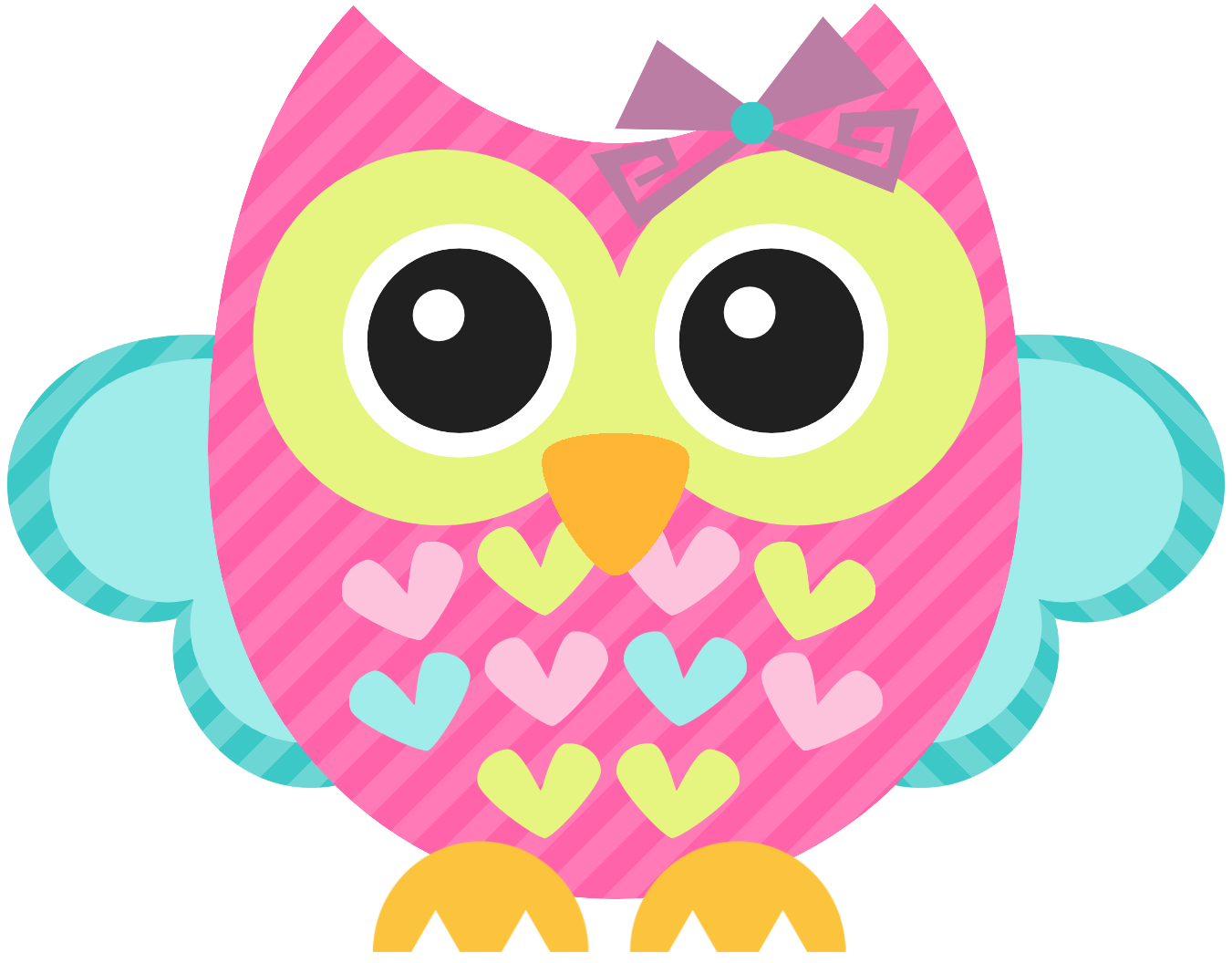 Owls clipart pink. Aves pass ros corujas