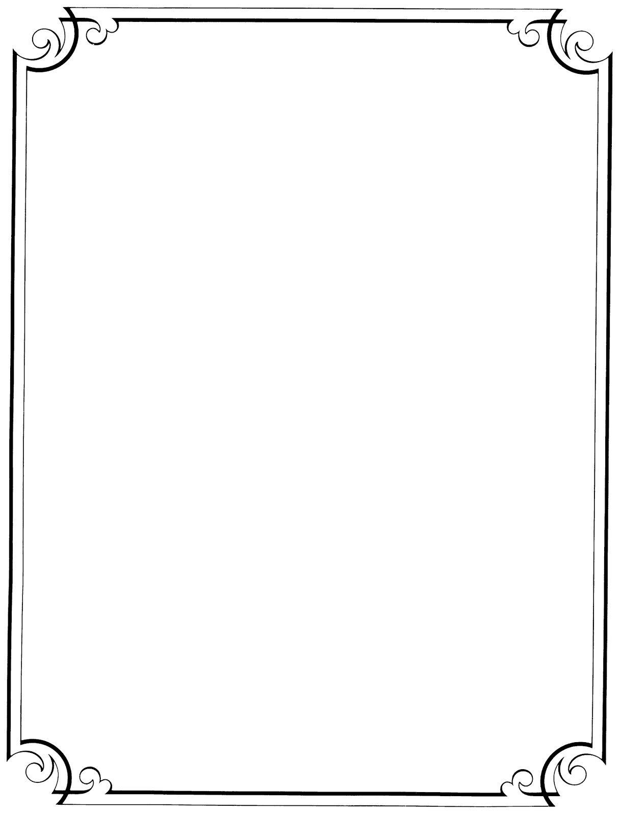 Free clip art borders. Clipart border page