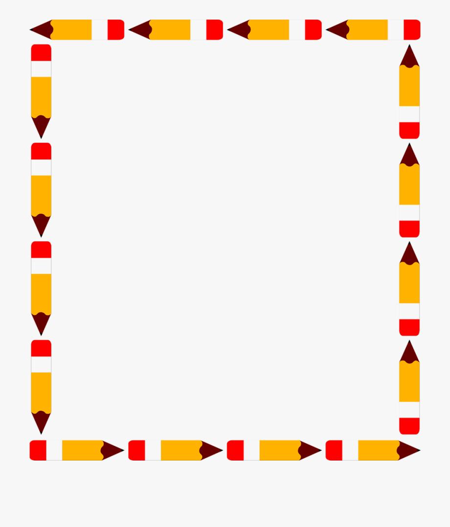 Border pencils free a. Clipart borders pencil