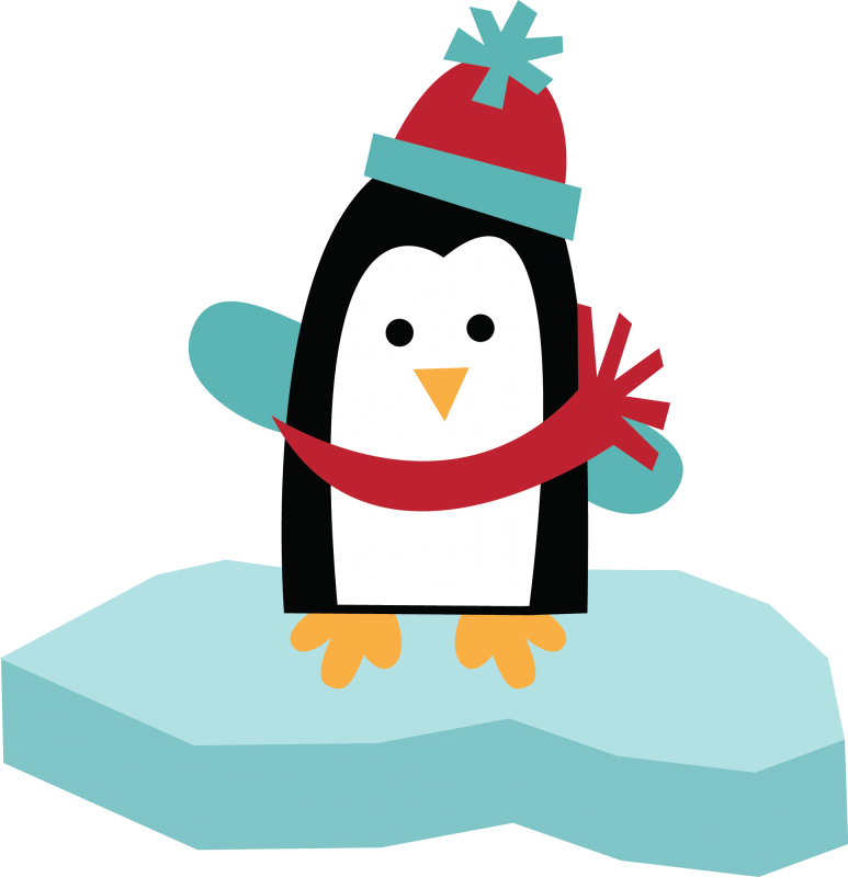 Snow penguin . Yearbook clipart day