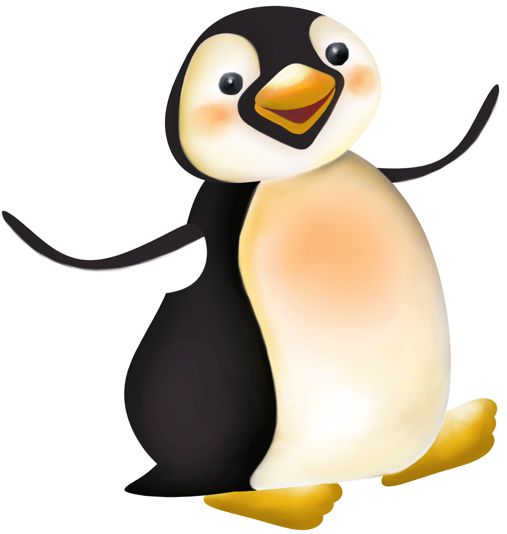 Large cartoon png gallery. Clipart penguin king penguin