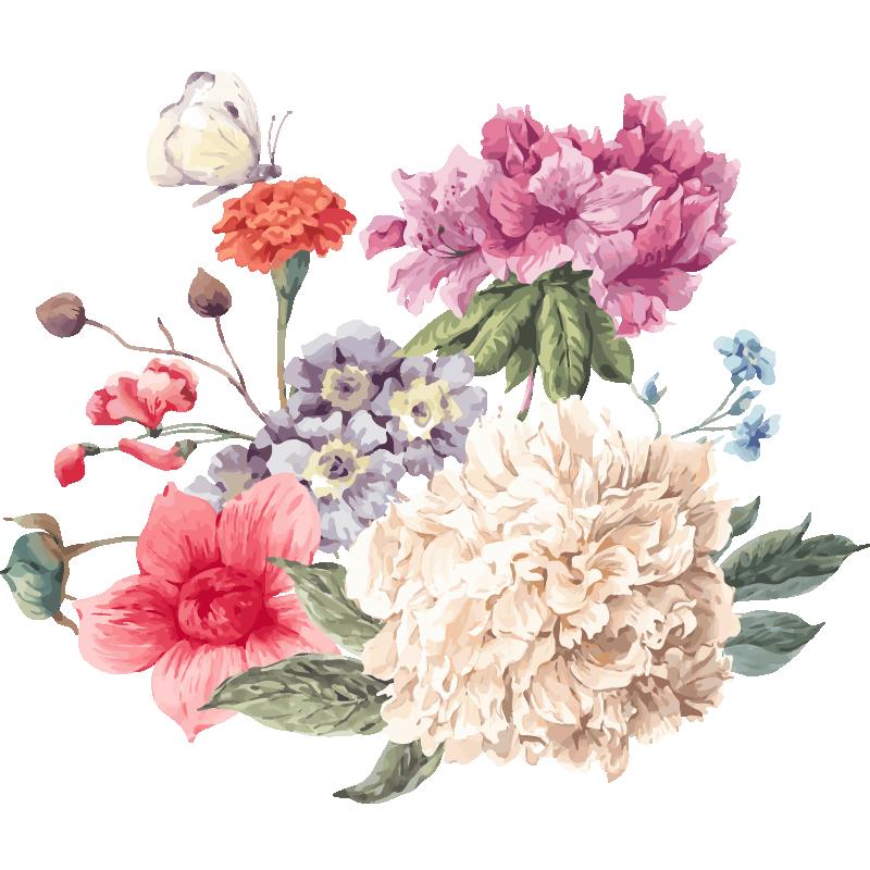 Clipart border peony. Flower clip art romantic