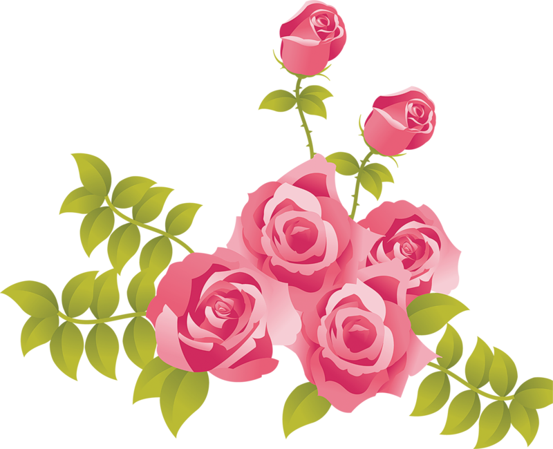 Pink free . Clipart roses cartoon