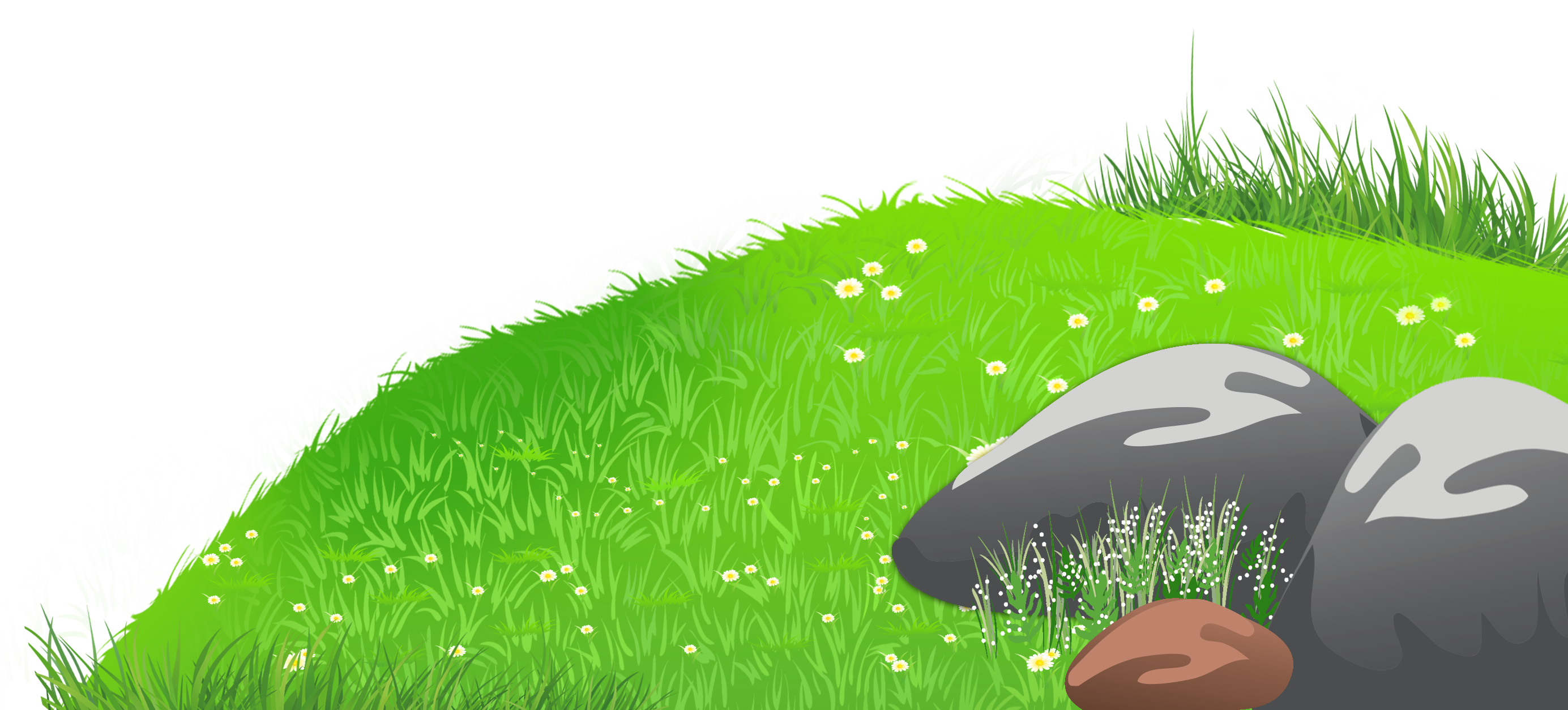 Grass with stones and. Clipart mountain cute