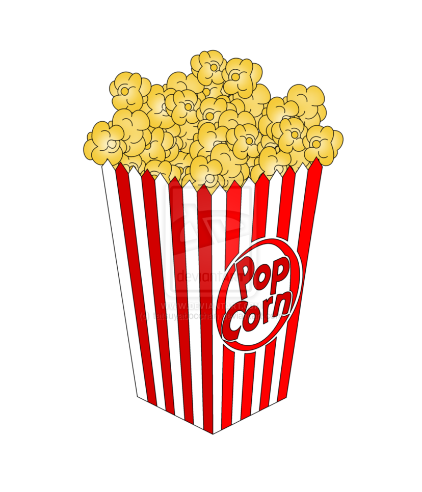 Piece of free images. Clipart tree popcorn