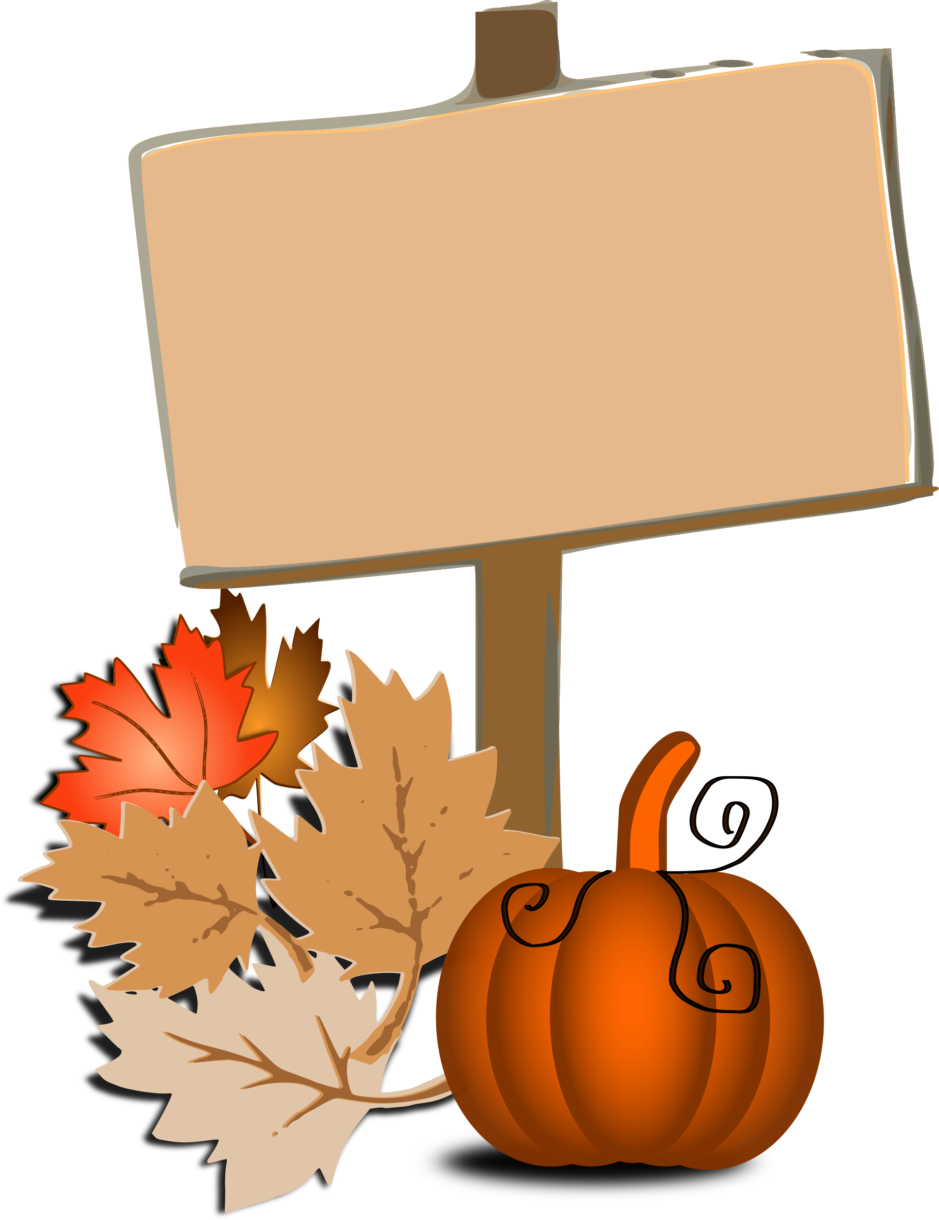 Clip art big image. Fall clipart autumn sign
